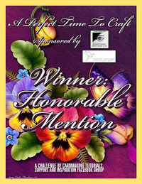 Honorable Mention Winner at A Perfect Time To Craft Challenge Blog
