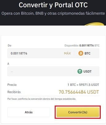 Comprar USDT Y ANCHOR PROTOCOL Binance