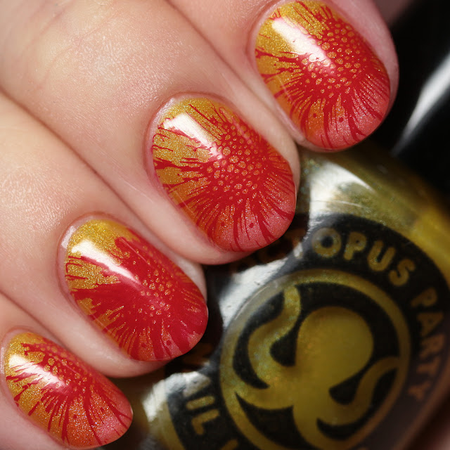 Octopus Party Nail Lacquer Mahalo Collection gradient