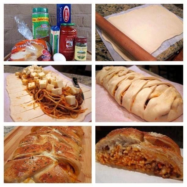Resepi Ringkas Ramadhan - Roti Bawang Putih Bersama Spagetti