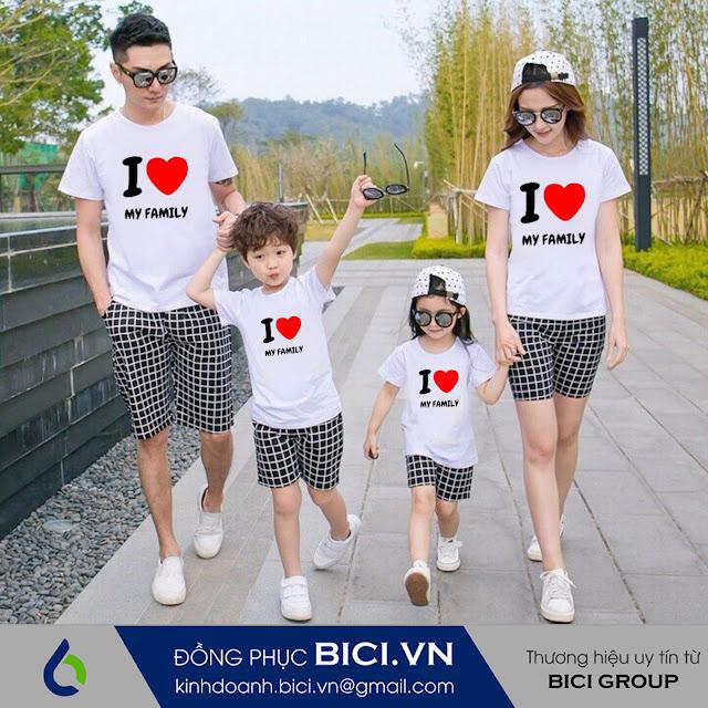 mẫu áo đồng phục gia đình 2