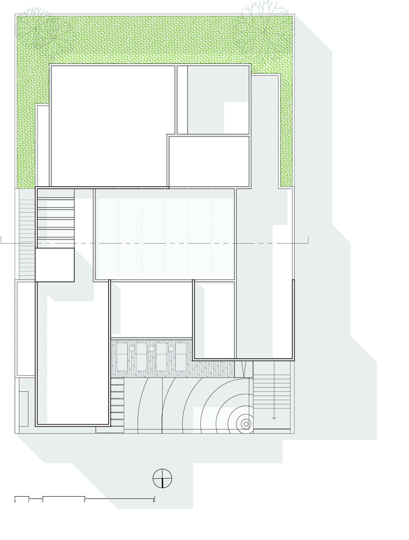 Site plan of Dominant modern mansion by GLR Arquitectos