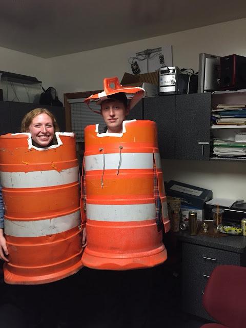 Roadwork Construction Barrels Costumes