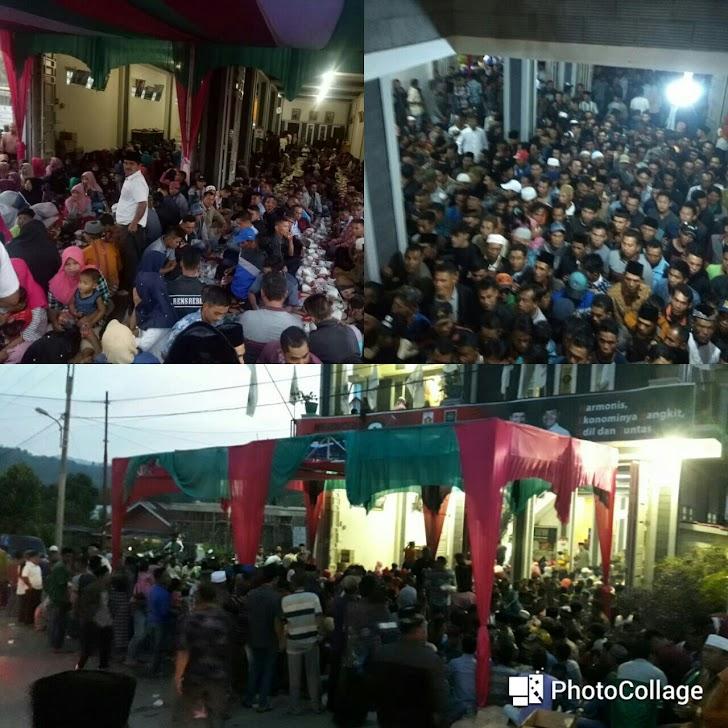 Ribuan Relawan Zainal-Arsal Tiga Kecamatan Buka Bersama di Siulak Deras