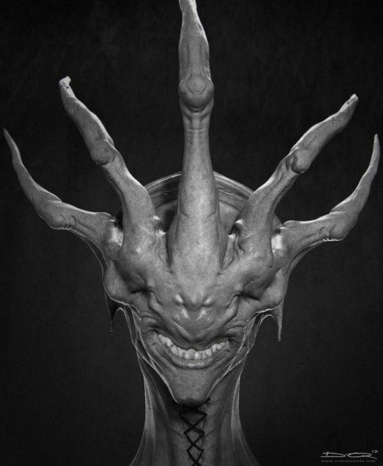 Dom Qwek artstation arte esculturas modelos 3d surreal ficção terror fantasia monstros