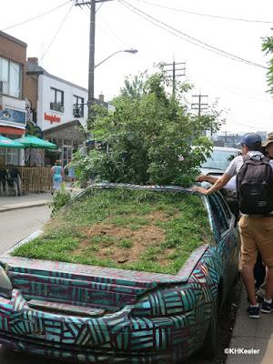 car full of plants, Toronto