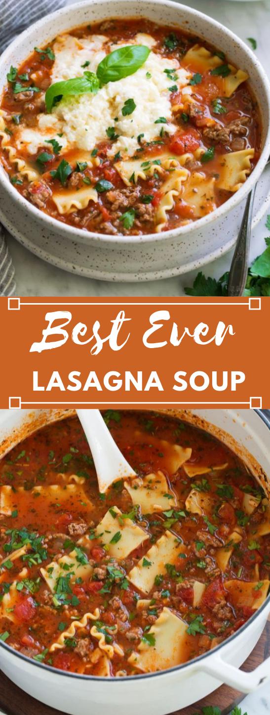 Lasagna Soup #lasagna #healthy #dinner #spaghetti #salad