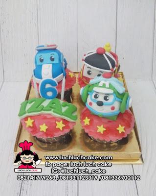 Cupcake Ulang Tahun Tema Robocar Poli