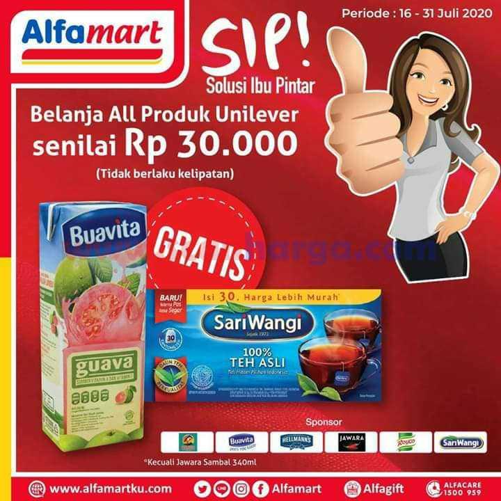 Alfamart Promo SIP (Solusi Ibu Pintar) Terbaru 16 - 31 Juli 2020