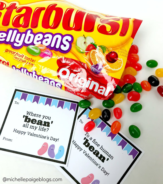 Jelly Bean Printable Valentines