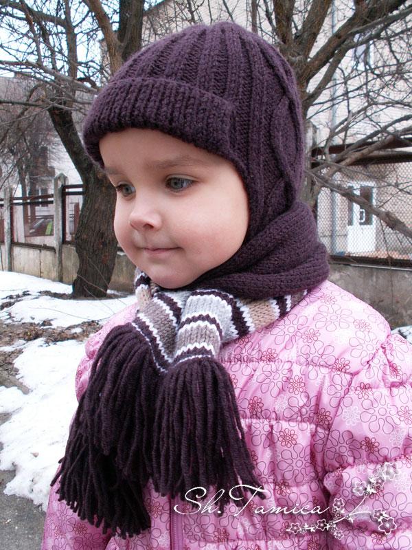 Donnix Теплая вязаная шапка для мальчика
