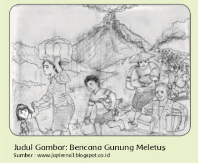 contoh gambar cerita teknik kering ( pensil )