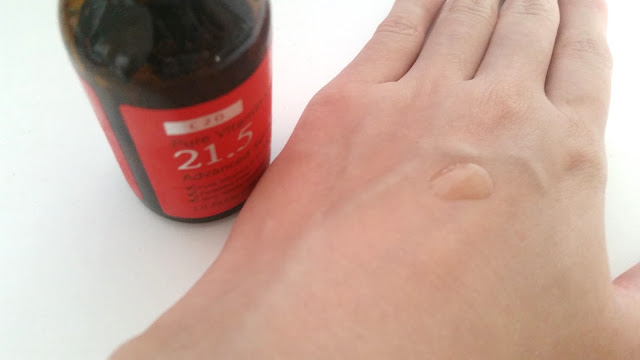 2 drops of the vitamin c serum