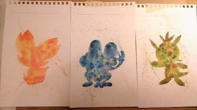 Watercolor Silhouette Tutorial: How to use masking fluid