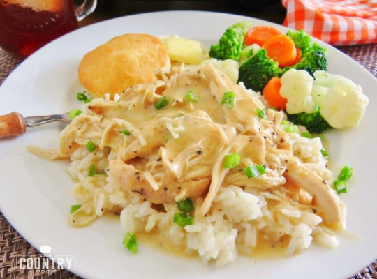 CROCK POT CHICKEN AND GRAVY #dinner #healthylunch #easy #food #recipes