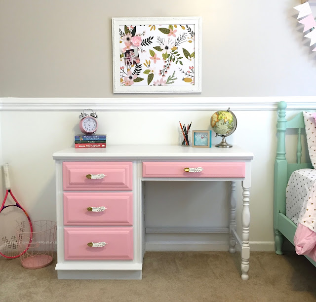 chalkpainted desk makover