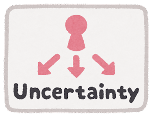 VUCAのマーク(Uncertainty)