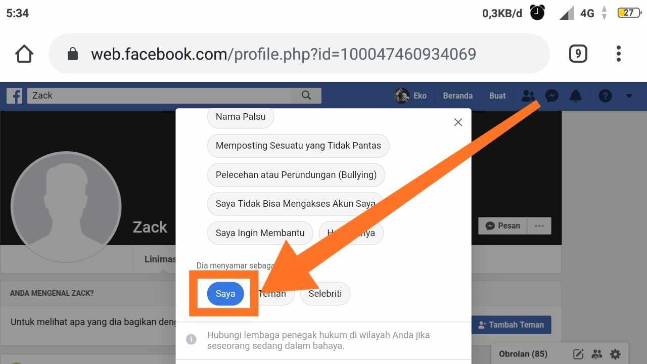 Hacked Facebook