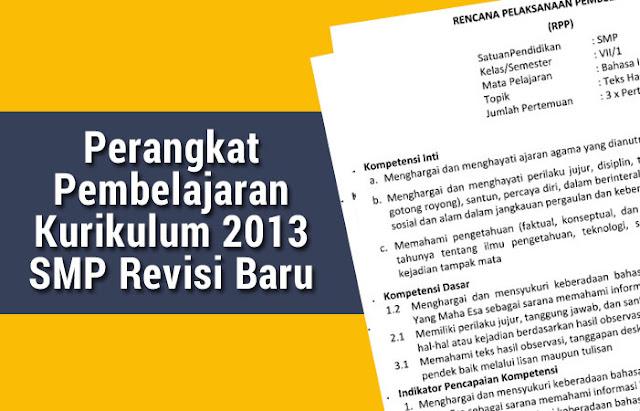 Perangkat Pembelajaran Kurikulum 2013 SMP Revisi Baru