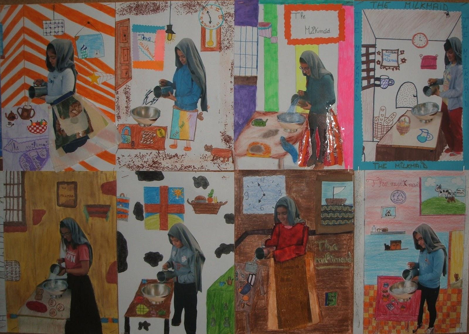 Arte en la escuela - La lechera de vermeer ...