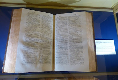An original volume of Samuel Johnson's dictionary published in 1755