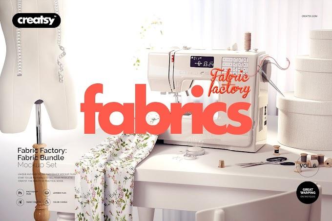 Fabric Factory v.6 Mockup Bundle