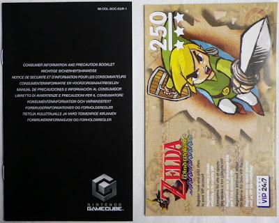 The Legend of Zelda - The Wind Waker - Folleto precaución y puntos estrella