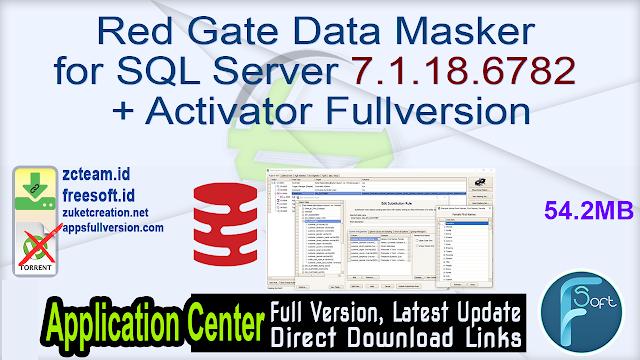 Red Gate Data Masker for SQL Server 7.1.18.6782 + Activator Fullversion