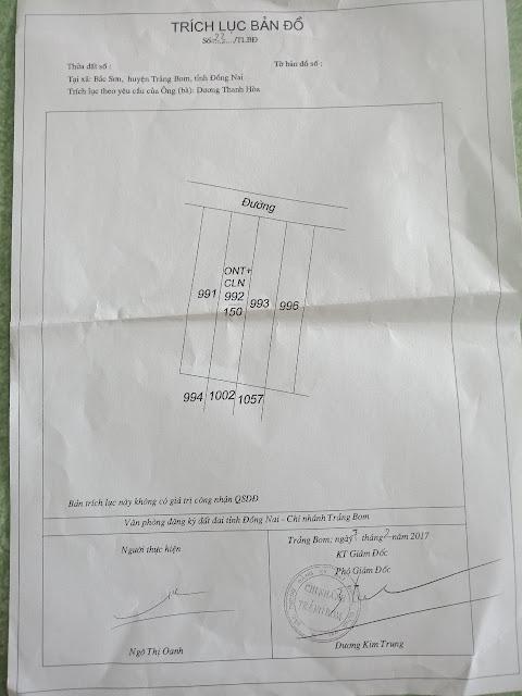 Bán nhà và đất tại xã Bắc Sơn Trảng Bom Đồng Nai 150mv (CYNT)