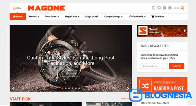 MagOne Responsive News & Magazines