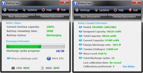 BatteryCare 0.9.25 Terbaru Gratis