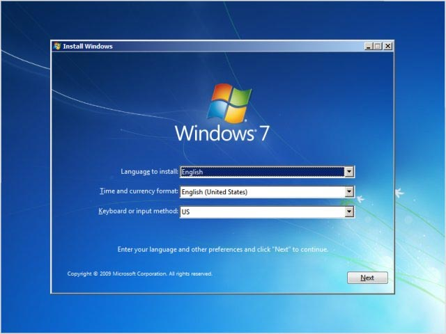 طريقة تثبيت ويندوز 7 من الفلاشة CD
