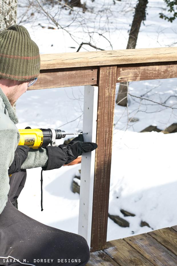DIY Wire Railing   Tutorial   sarah m. dorsey designs ...