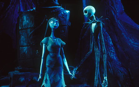 Holding hands in The Nightmare Before Christmas animatedfilmreviews.filminspector.com