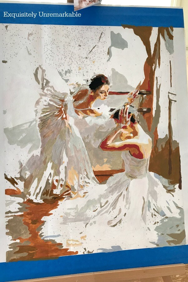 Ballerina Paint By Number kit