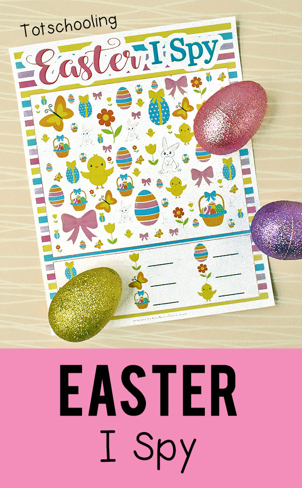 Classroom Easter Ideas ~ Free easter i spy printable totschooling toddler