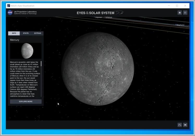 NASA Eyes Visualisation : Απολαύστε τη Γη  το ηλιακό μας σύστημα και το αχανές σύμπαν
