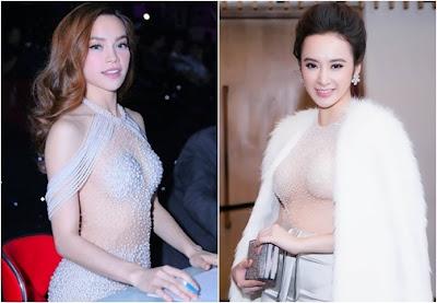 Hà Hồ và Angela Phương Trinh vúy xuyên thấu