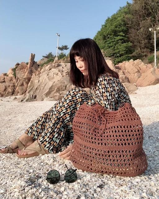 wzór torby plażowej szydełkiem