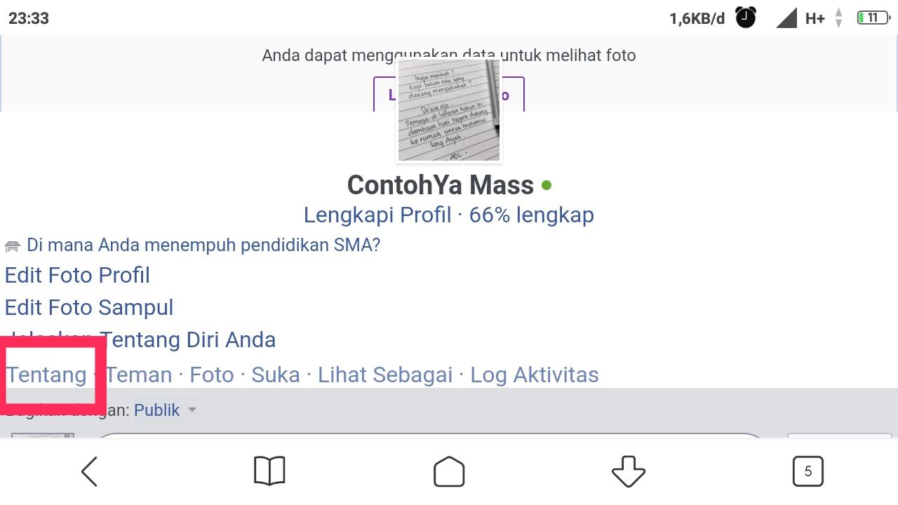 cara mengganti tanggal lahir di facebook lite android