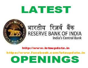 Reserve Bank of India (RBI) has published notification for the recruitment of Manager, Asst Manager, Legal Officer and Asst Librarian vacancies, letsupdate, rbi job