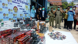Tanpa Pita Cukai, Rokok Ilegal Dimusnahkan Kantor Bea Cukai