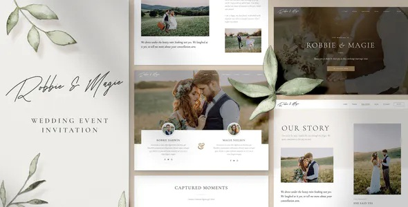 Wedding Event Invitation Elementor Template Kit