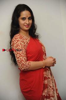 Kannada Actress Lakshmi Hegde Pos in Red Saree at Tab Movie Press Meet  0010.jpg