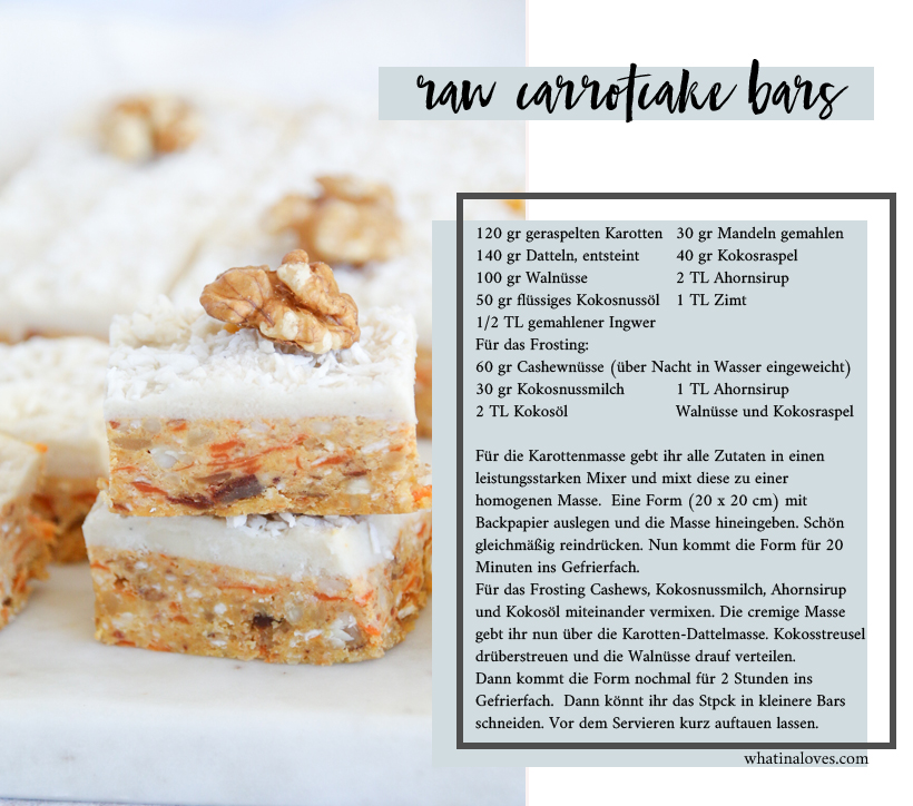 vegan Raw Carrot Cake Bars