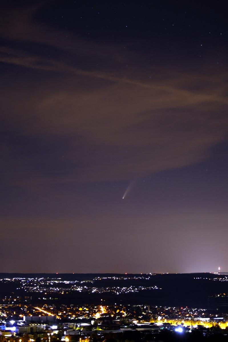 """Komet """"NEOWISE"""" – C/2020 F3 über Reutlingen"""