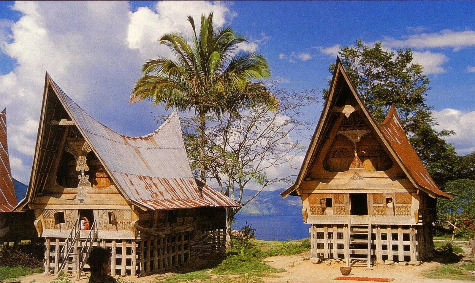 Kumpulan Gambar Rumah Adat Tradisional Suku Suku Di Nusantara