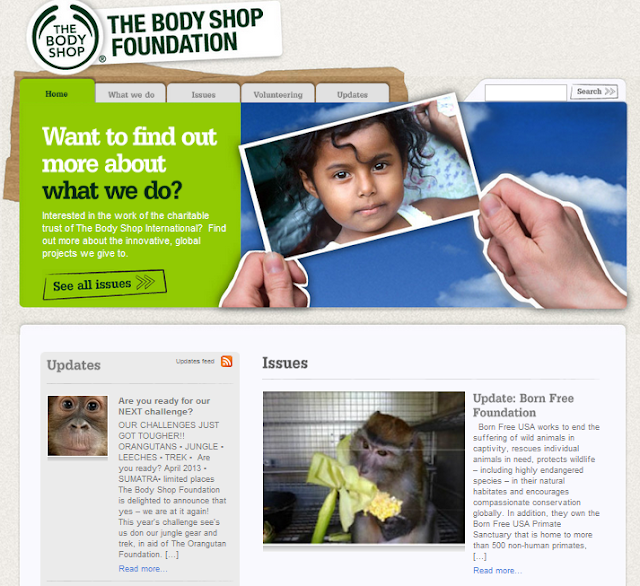 Information on The Body Shop Foundation