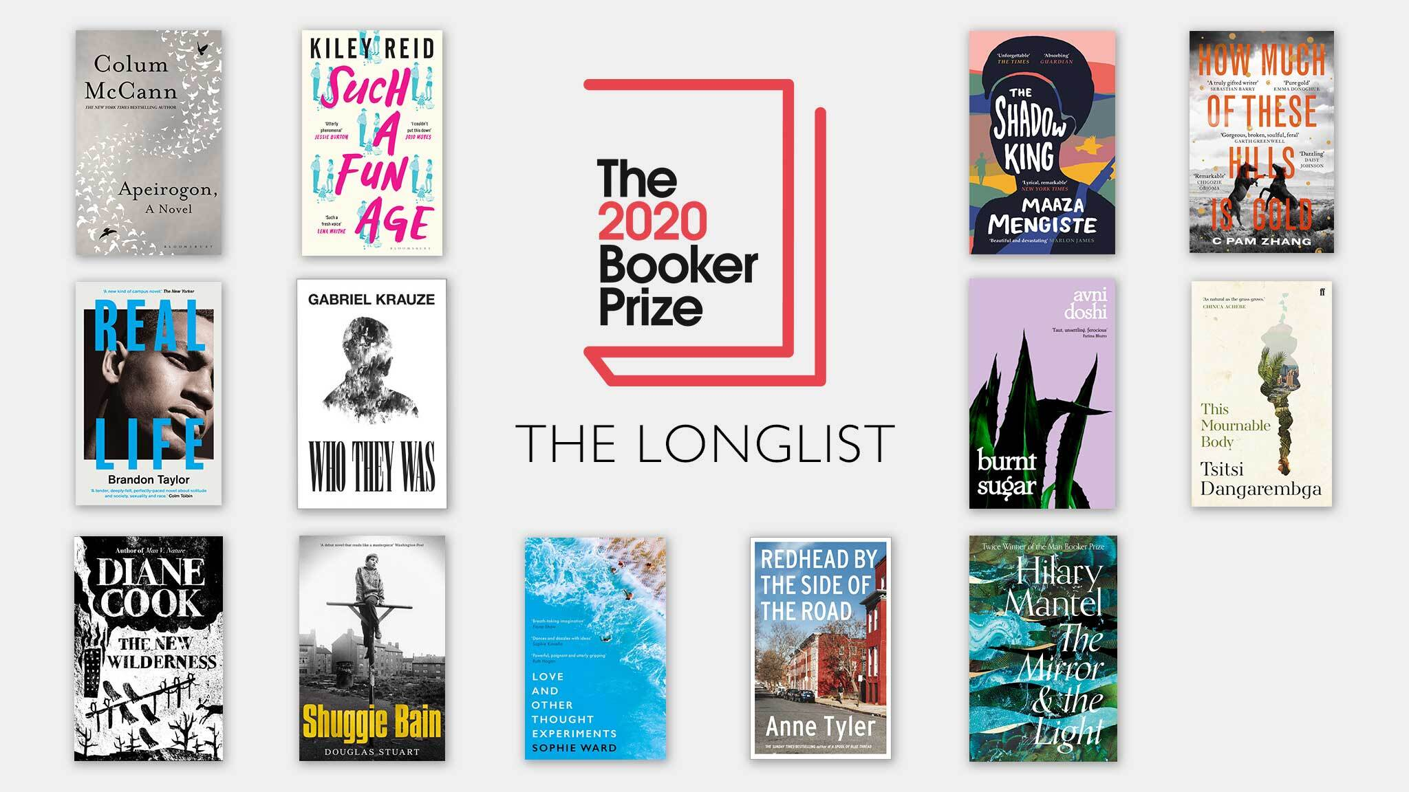 The Booker Prize 2020 - Longlist graphic