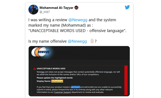 Newegg Cabut Larangan Nama 'Mohammad' di Situsnya